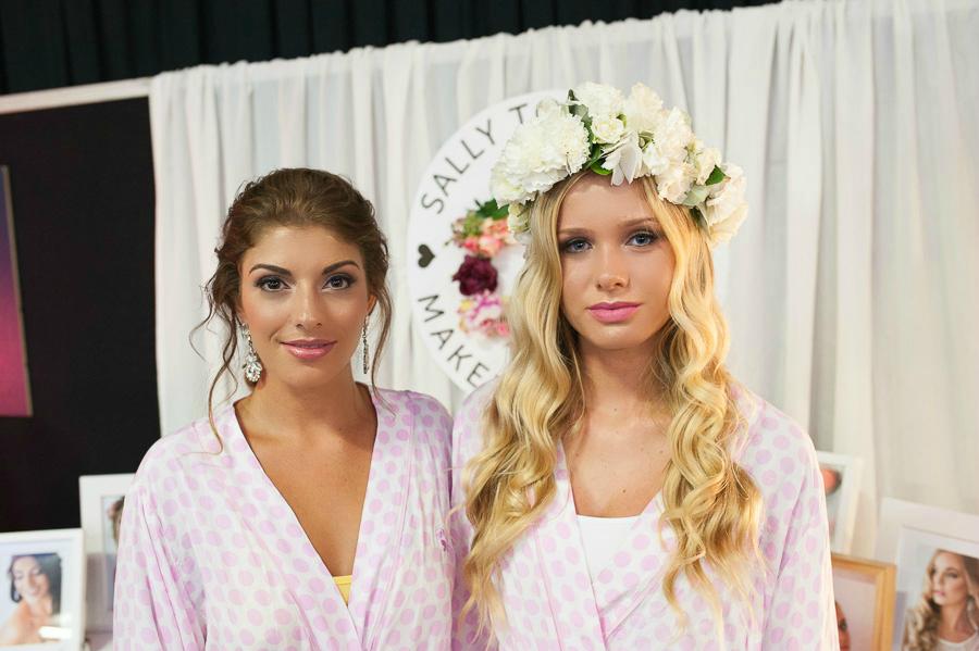 Kirra and Chelsea_Bridal Makeup_ Sunshine Coast bridal showcase_Sally Townsend Makeup Artistry